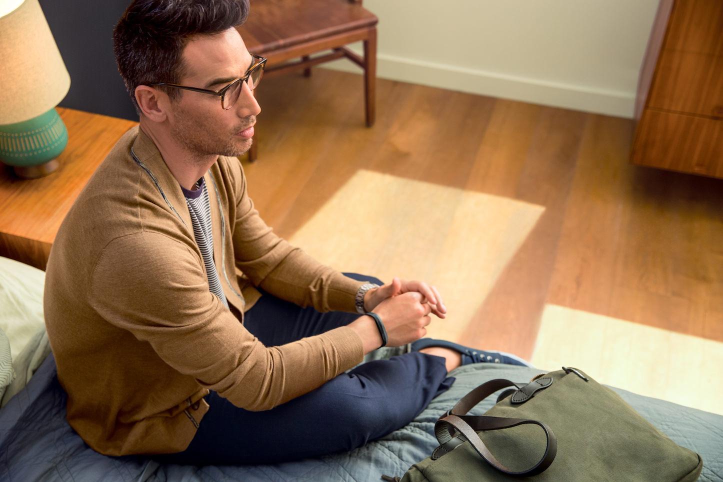 Fitbit Flex 2 Man Getting Ready Lifestyle