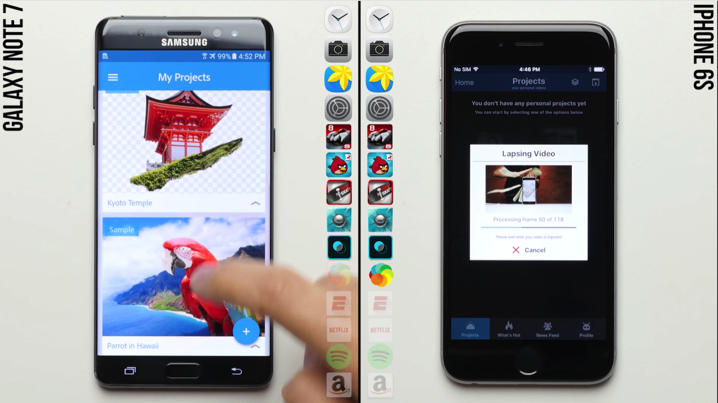 Galaxy Note 7 VS iPhone6s