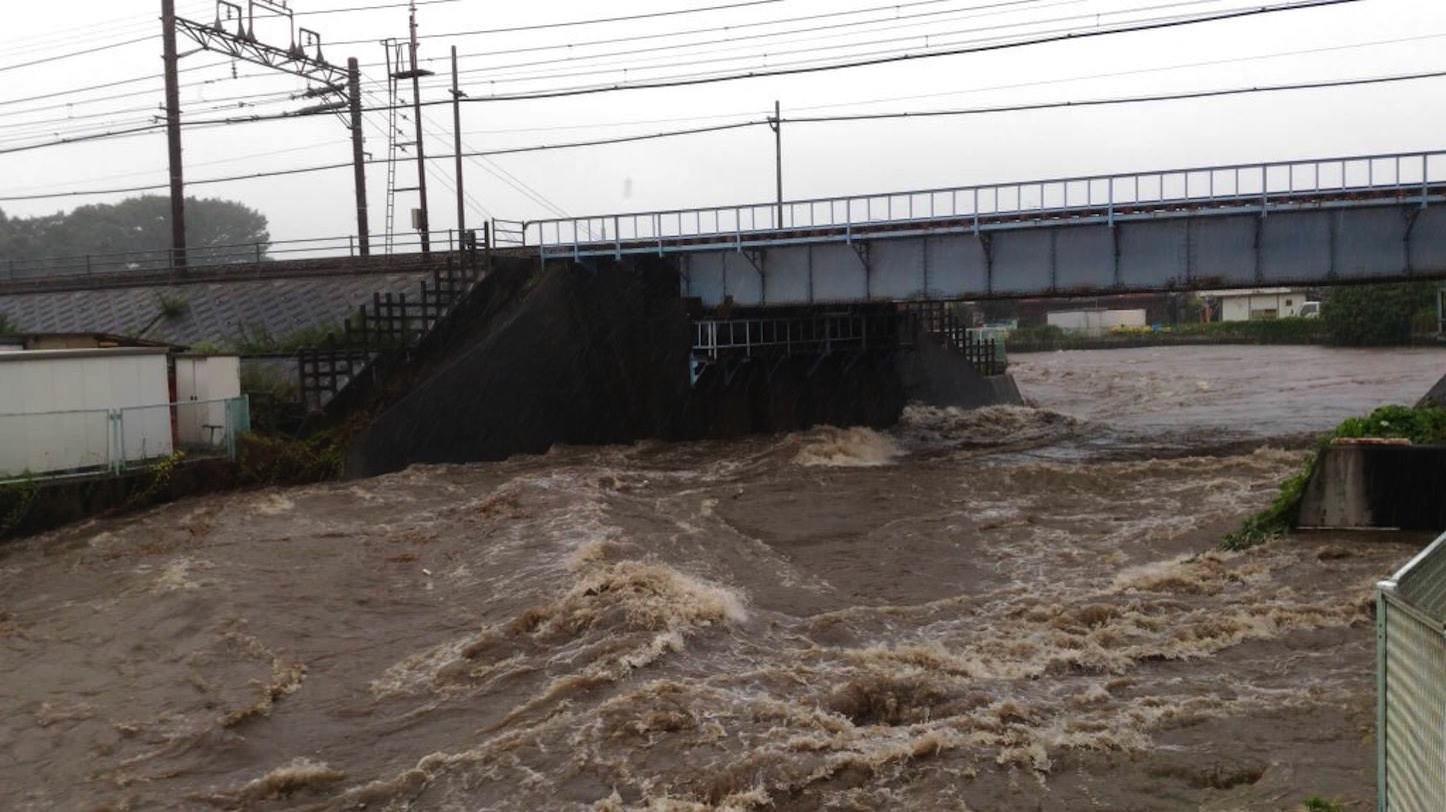 境川が氾濫注意