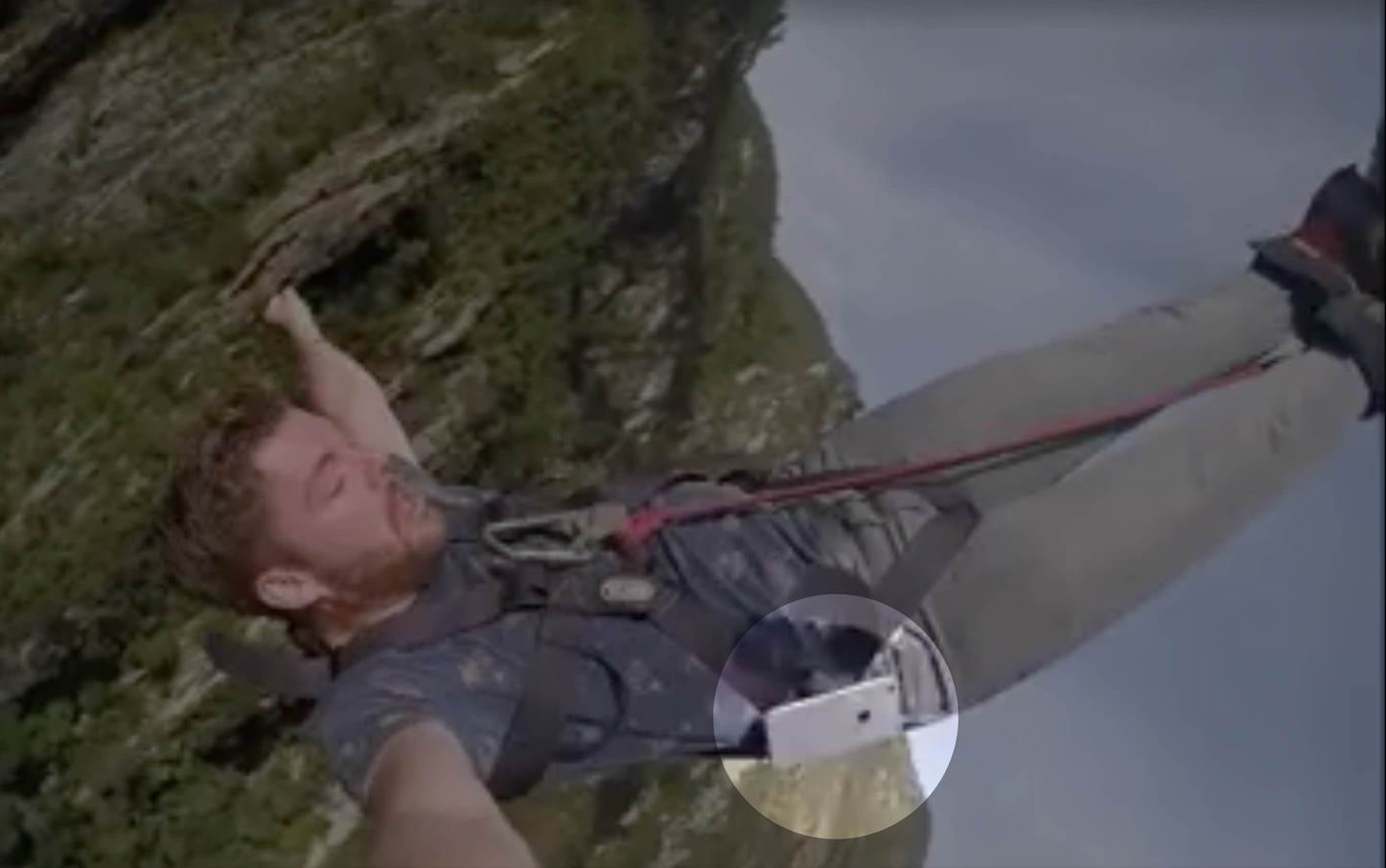 IPhone Falls out of Bungee