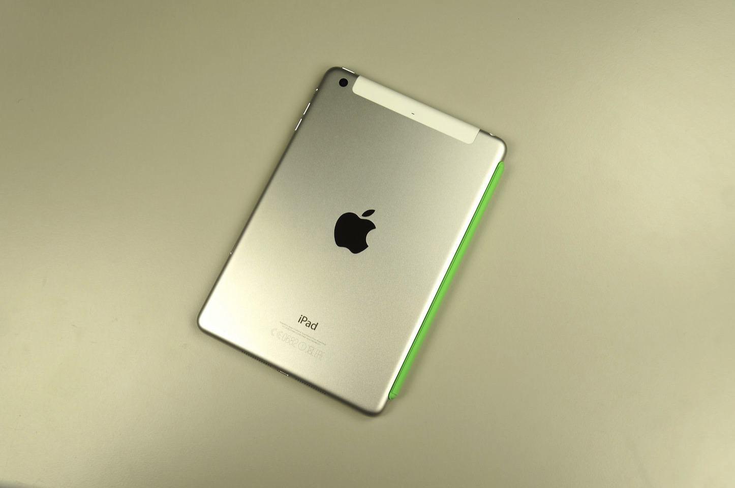 Ipad mini 4 with case green