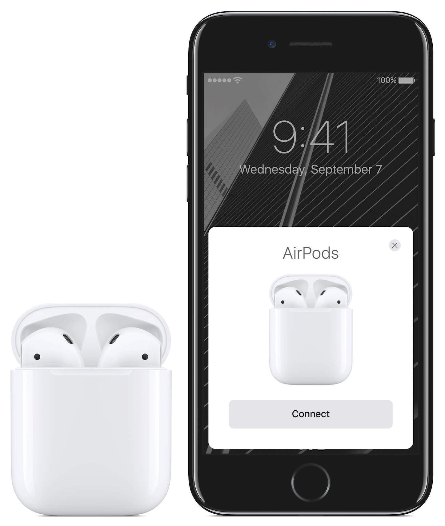 AirPodsCase PF Open AirPods PF iPhone7 JetBlk PF PR PRINT