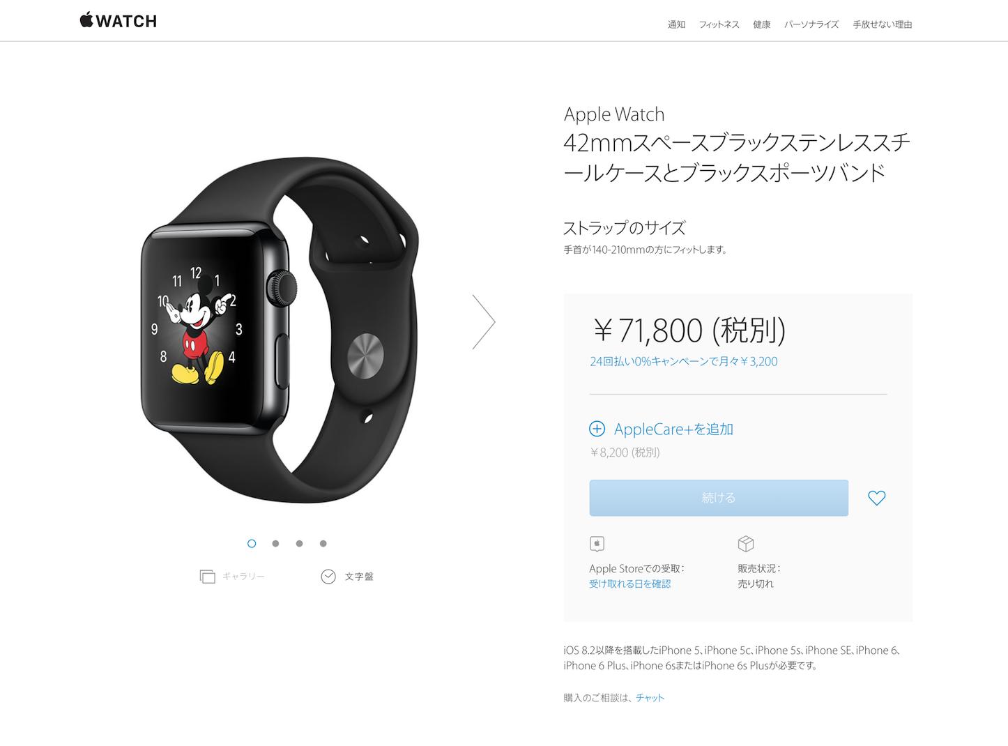 Apple Watch Steinless Steel Model outofstock