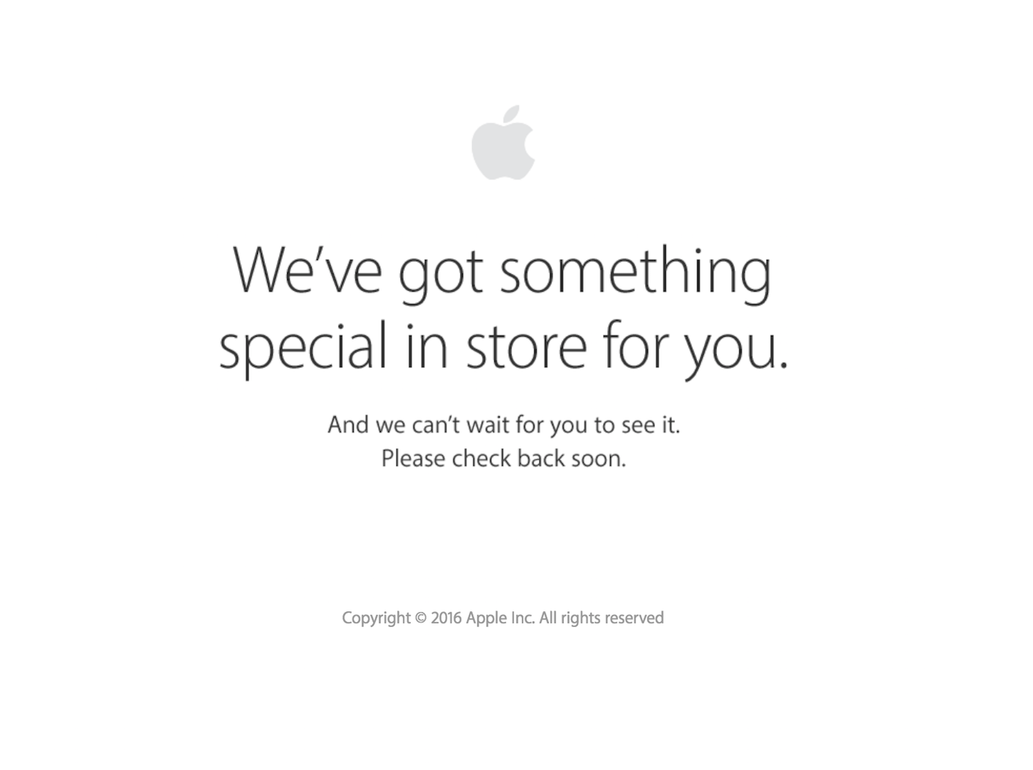 Apple store is down 201609
