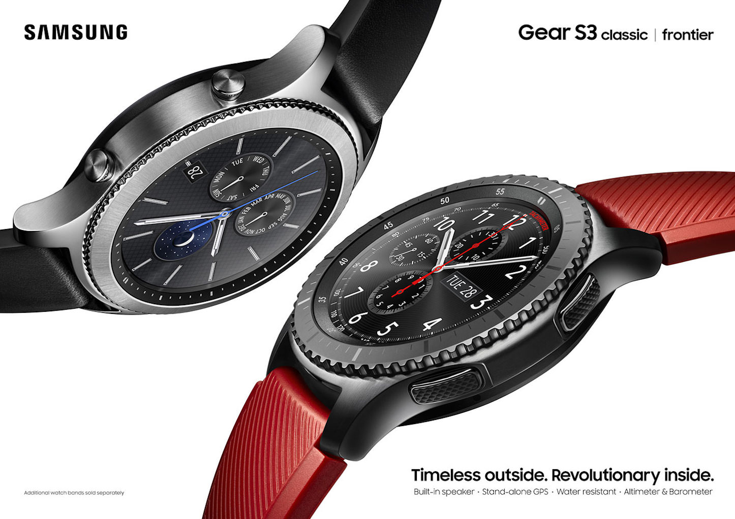 Samsung Gear S3 frontier classic 2P Red