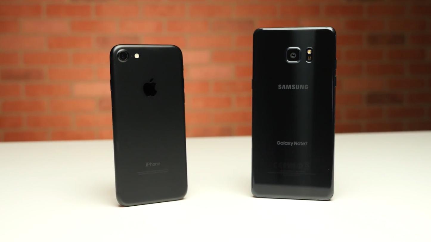 Iphone7 vs galaxynote7