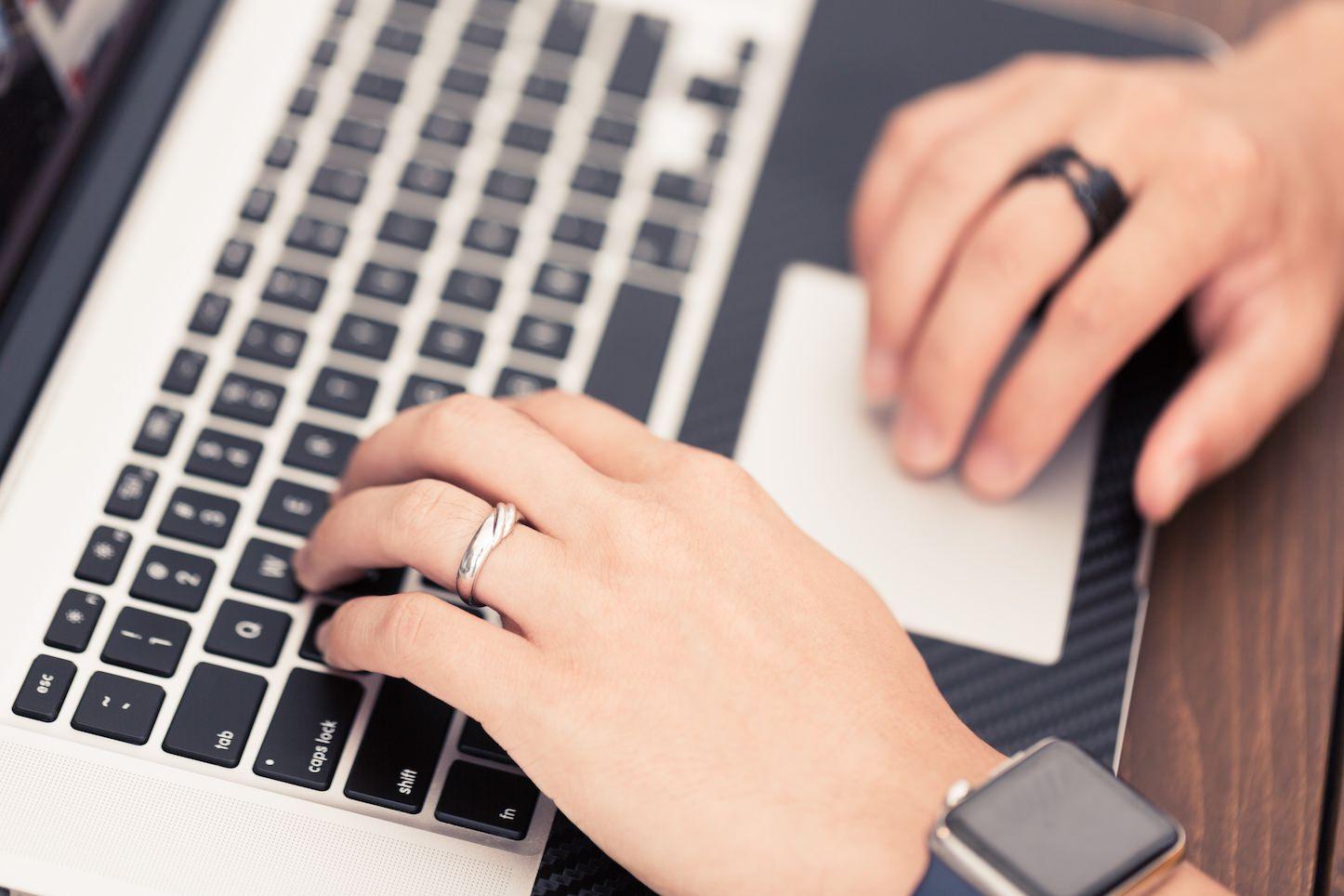 Macbook trackpad and keyboard