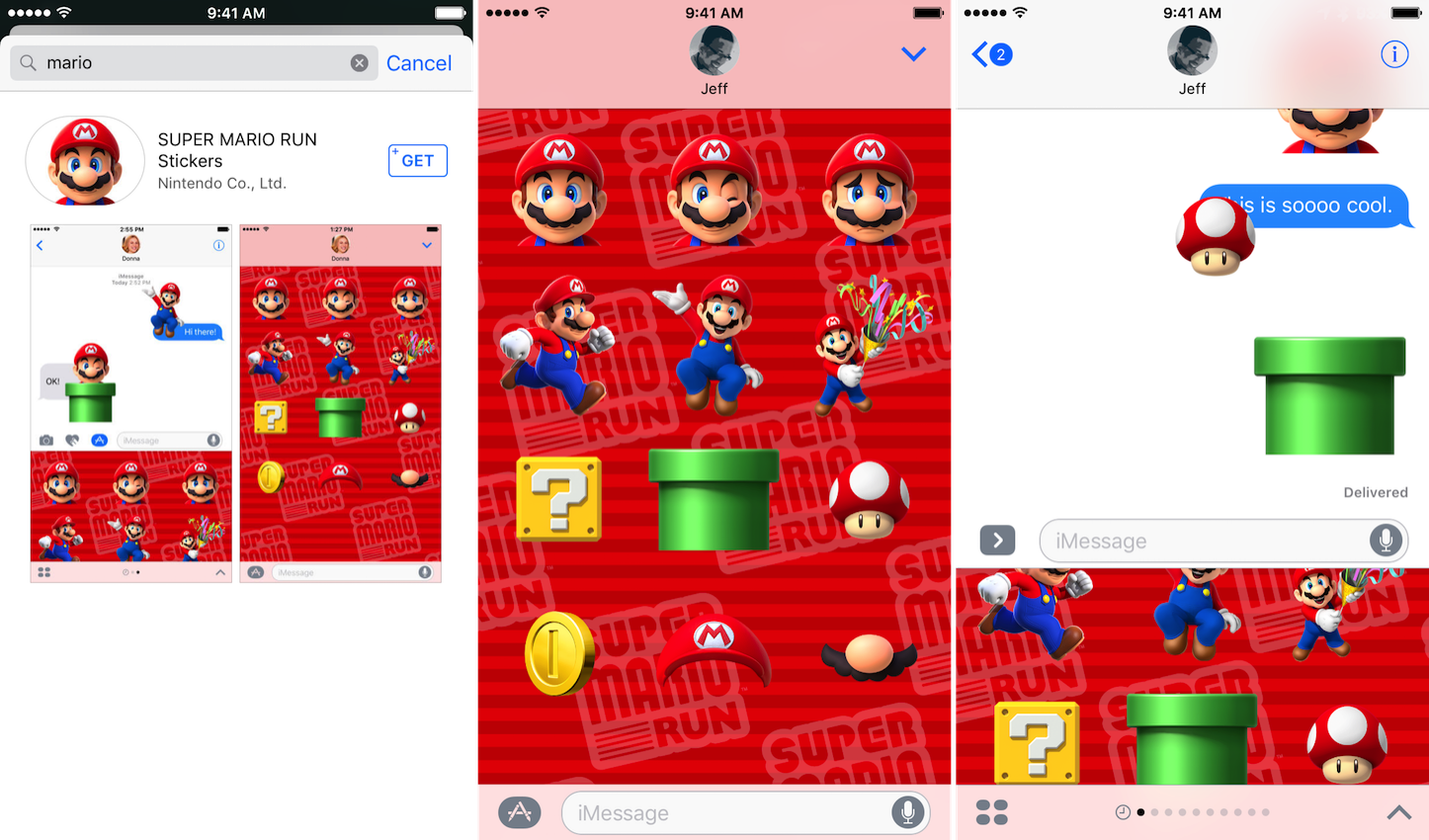 Super mario run sticker pack