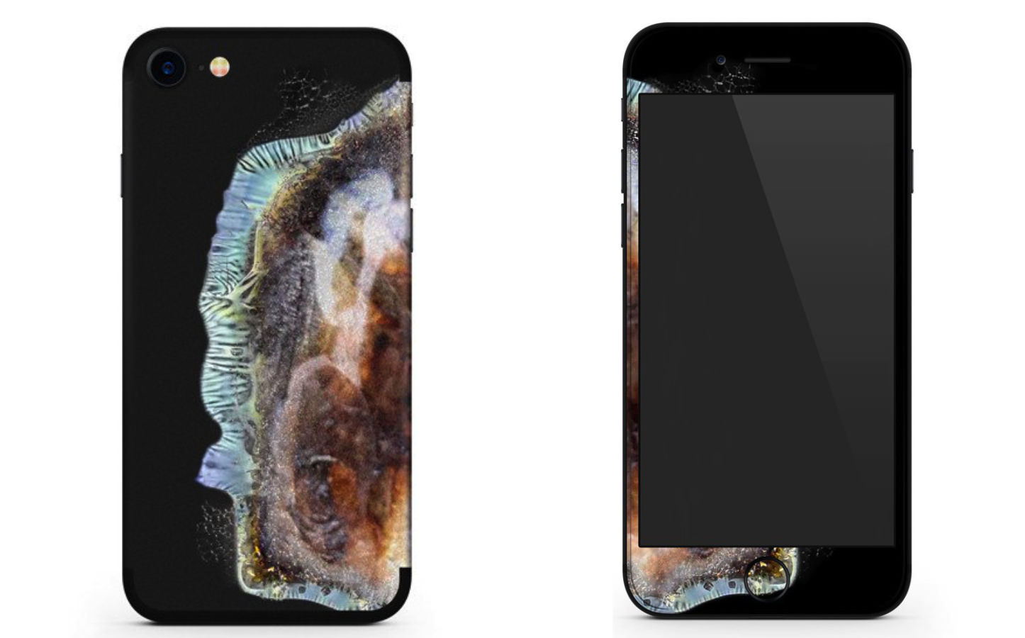 Exploding iPhone Skin