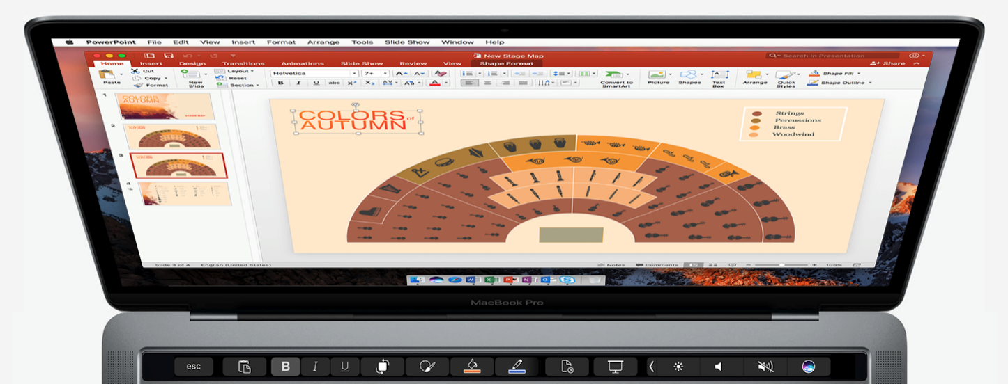Office for Mac Adds Touch Bar Support