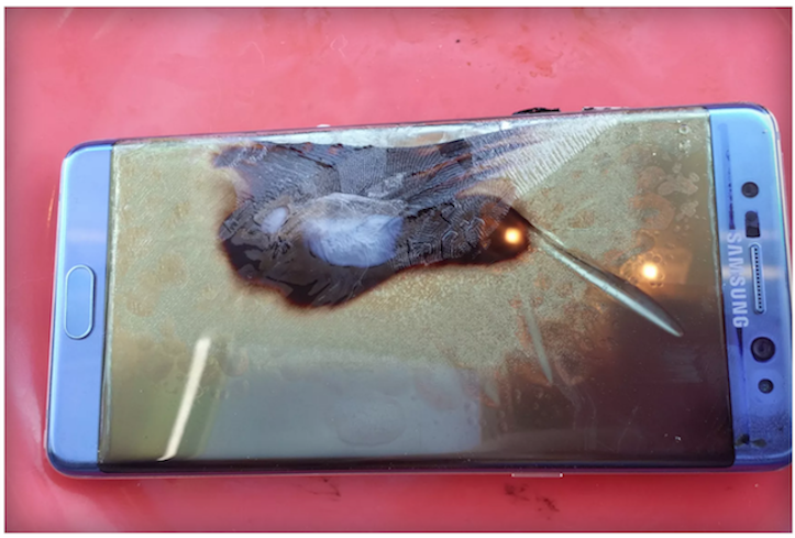 Another safe galaxy note 7 exploded