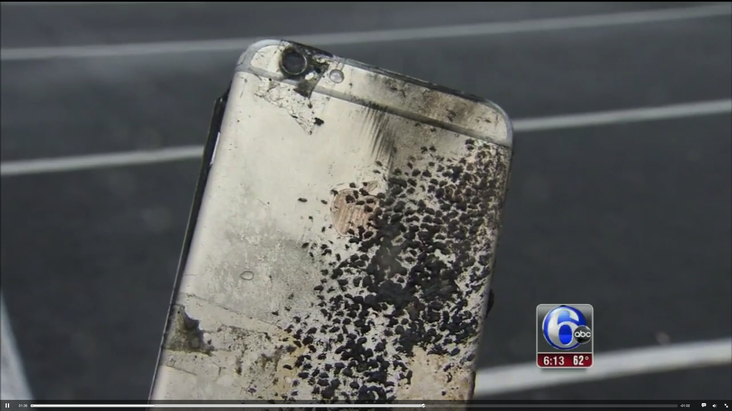 Iphone6 explodes in pocket 2