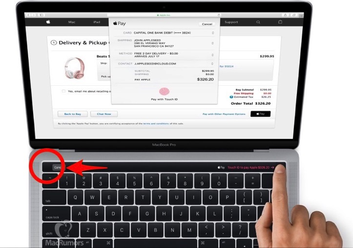 Macbook pro touch id mr noesc