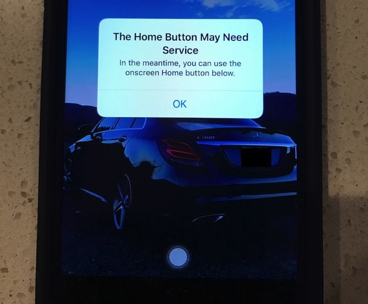 The home button may need service top