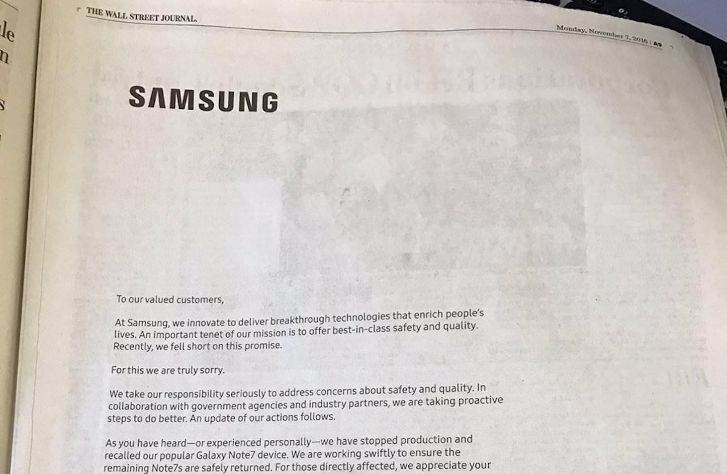 Samsung WSJ Ads