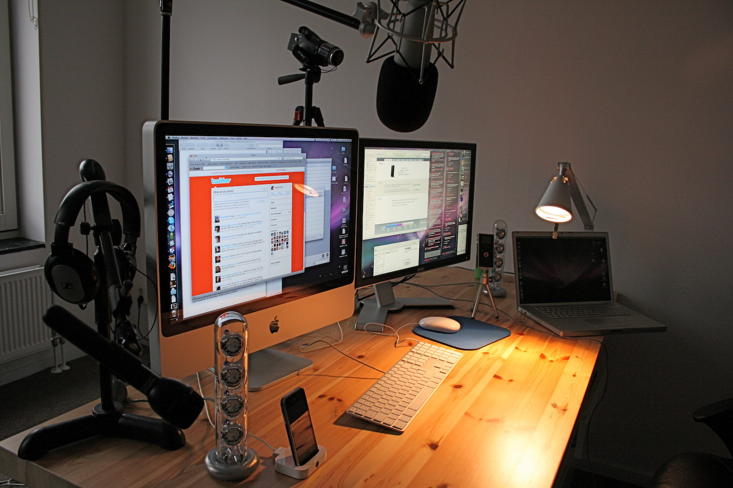 Audio engineer desk