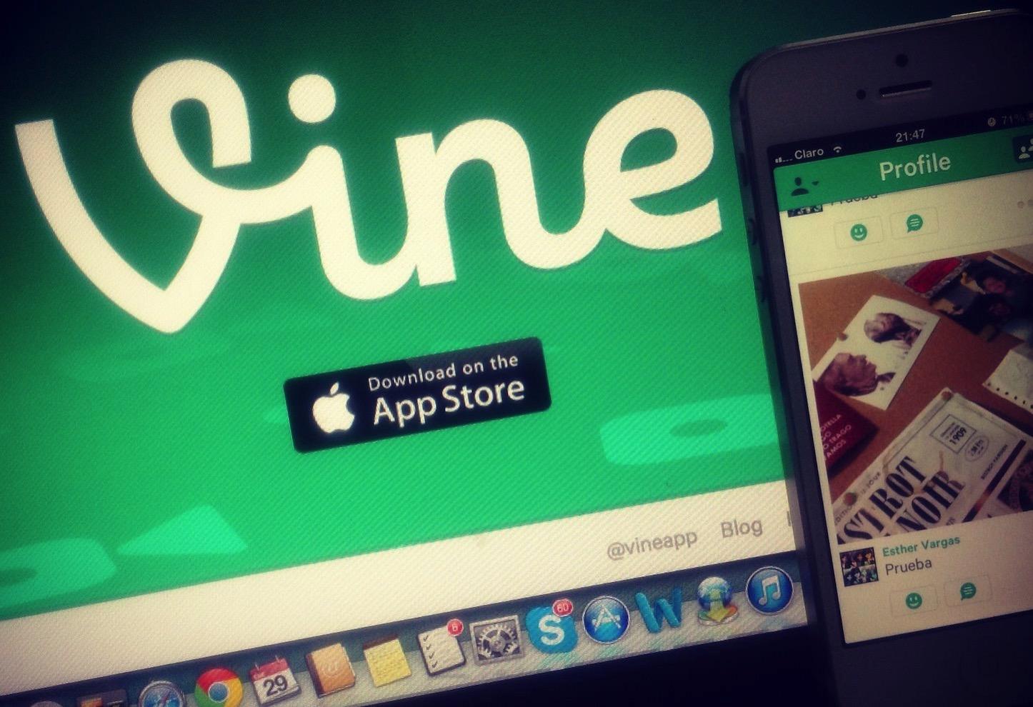 Vine web and phone
