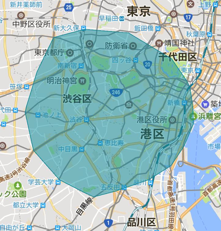 Shinjuku area ubereats