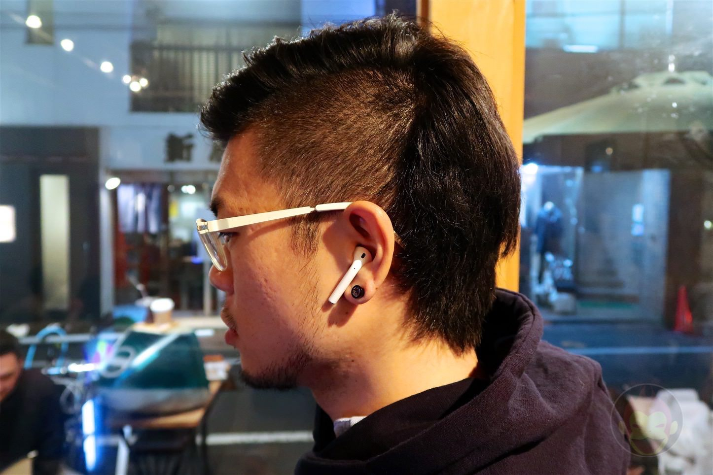 Wearing the Apple AirPods