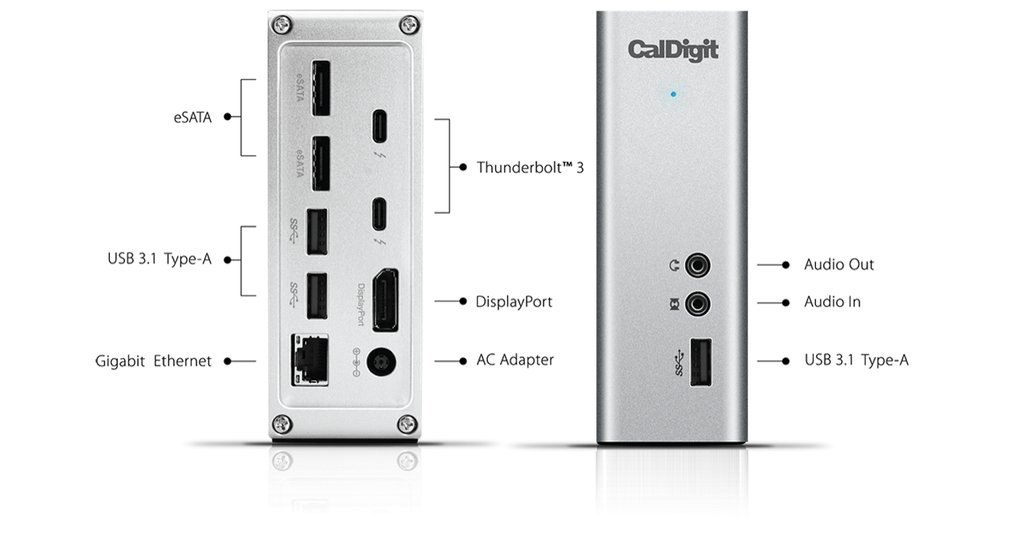 Thunderbolt 3 Dock CalDigit TS3 Overview 1