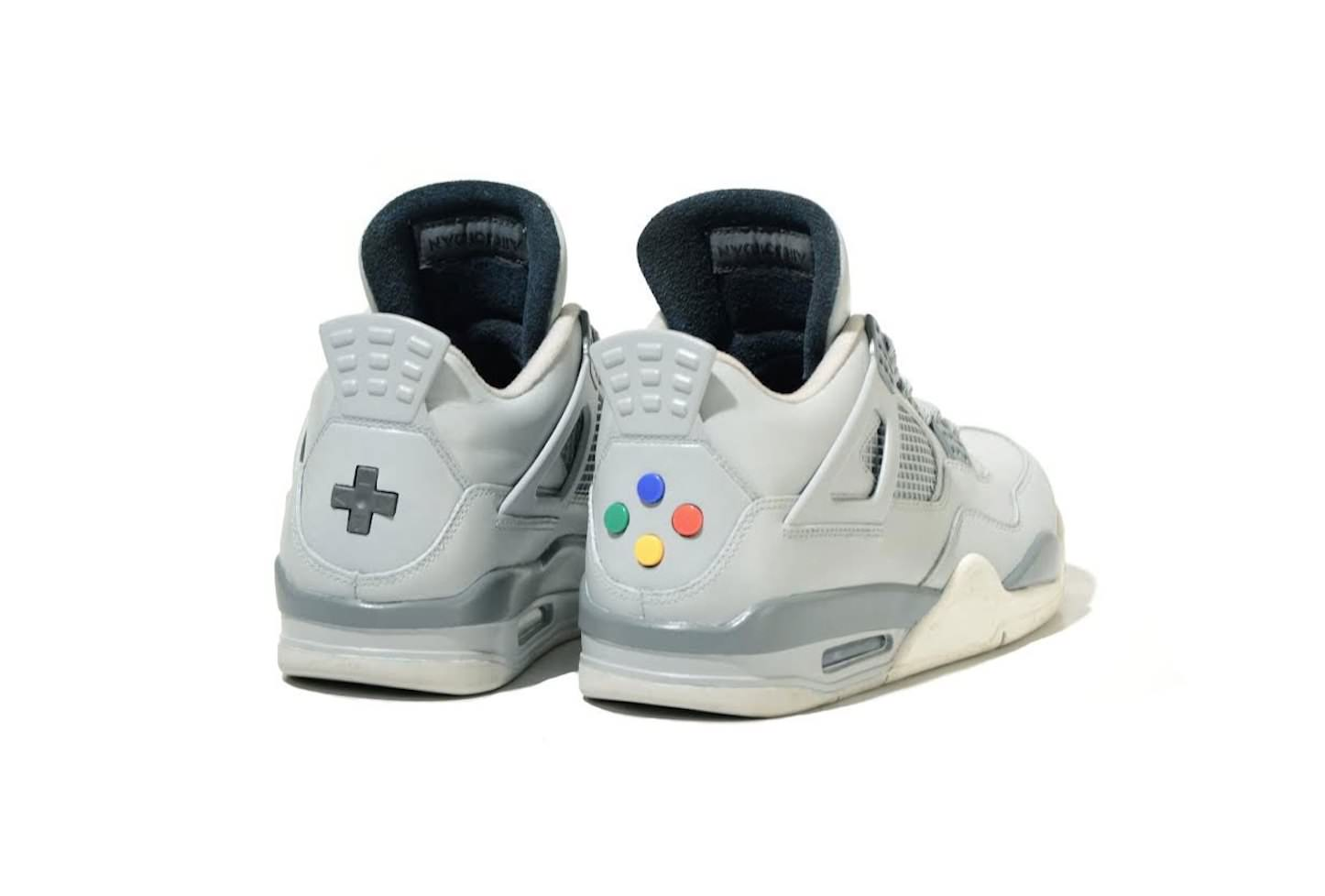 Jordan 4 super nintendo custom 002