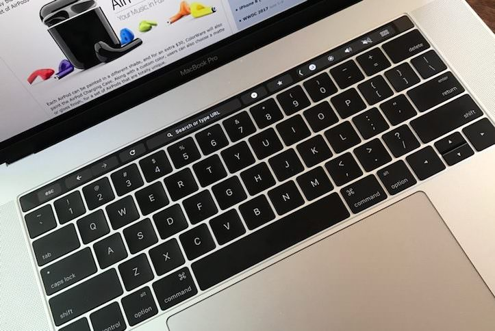 Macbookpro chrome touchbar