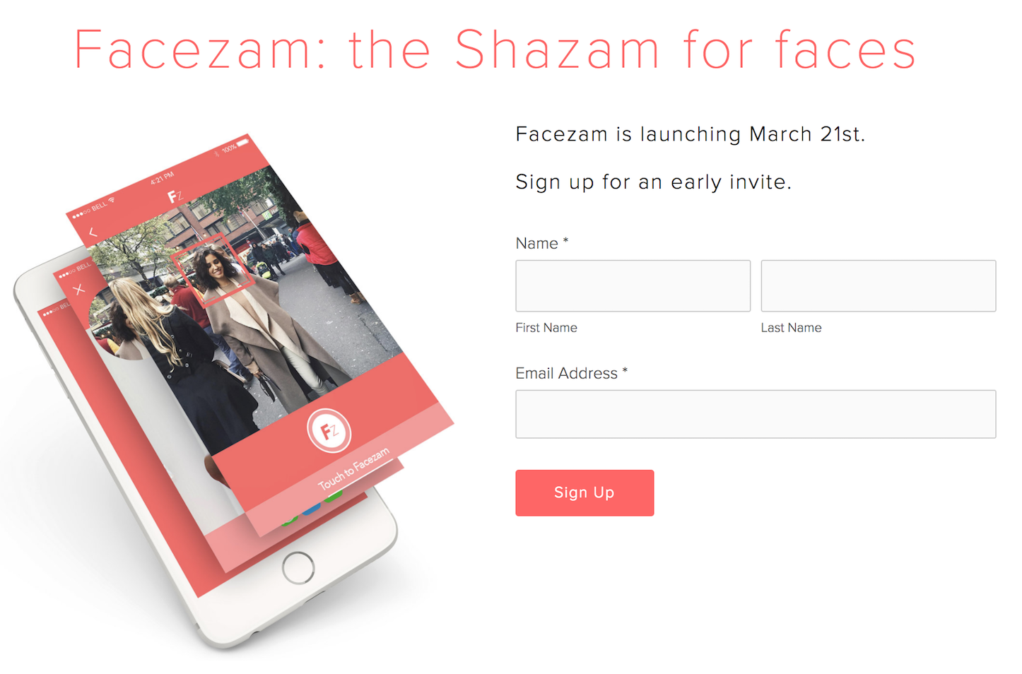 FaceZam the shazam for faces