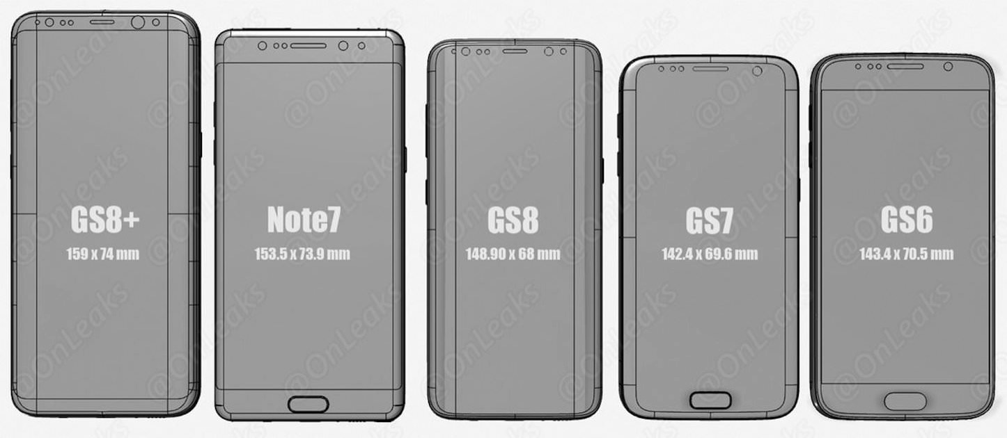 Galaxy S8 Size Comparison 3