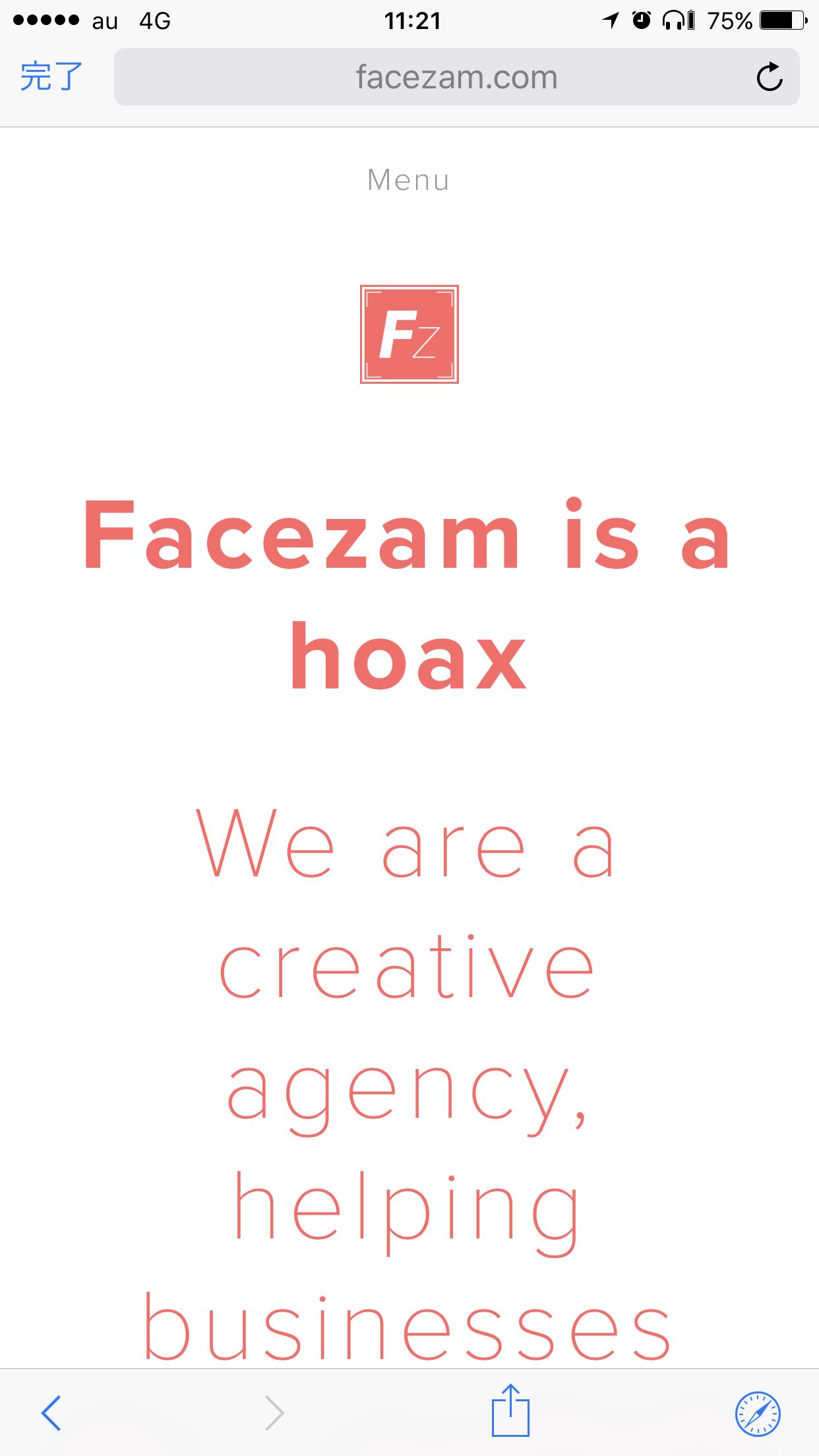 Photozam was a hoax