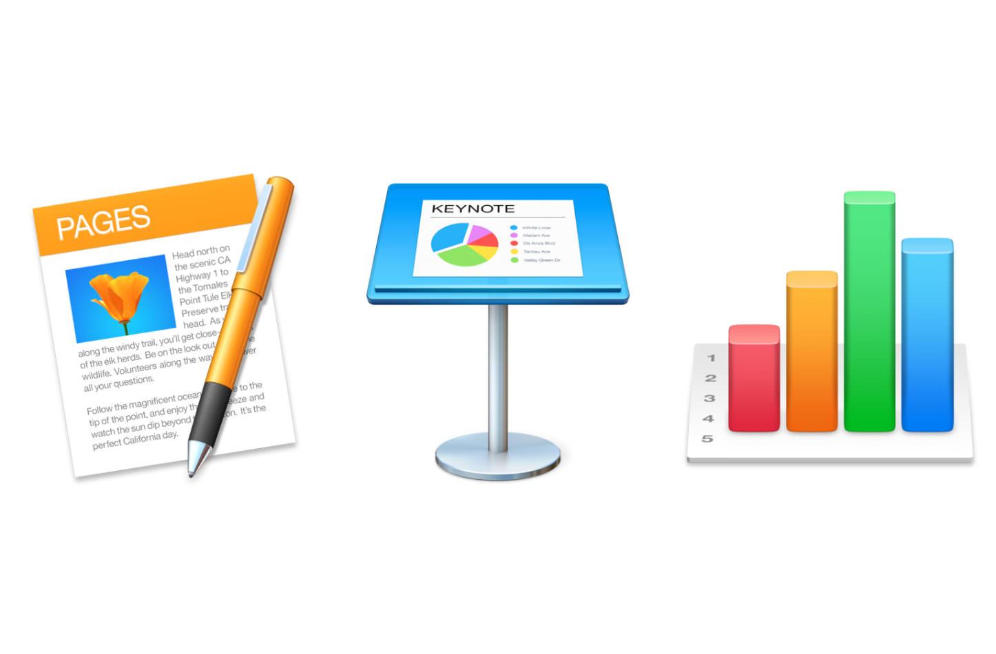 Mac Keynote Numbers Pages
