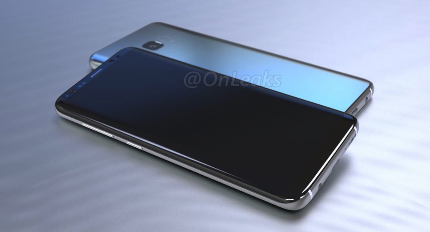 OnLeaks Galaxy S8 Rendering