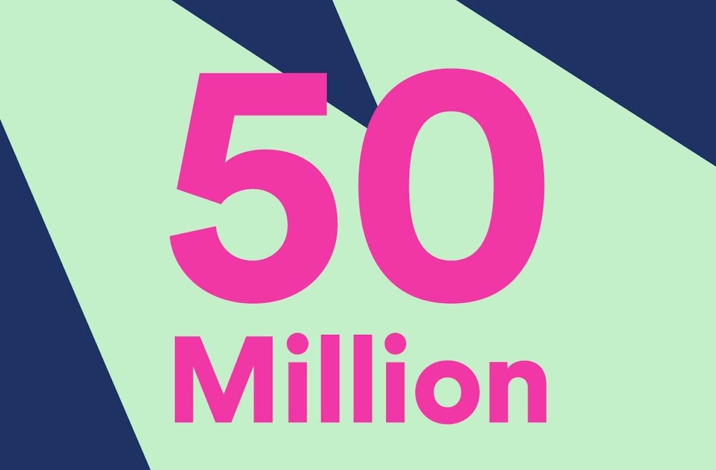 Spotify 50million
