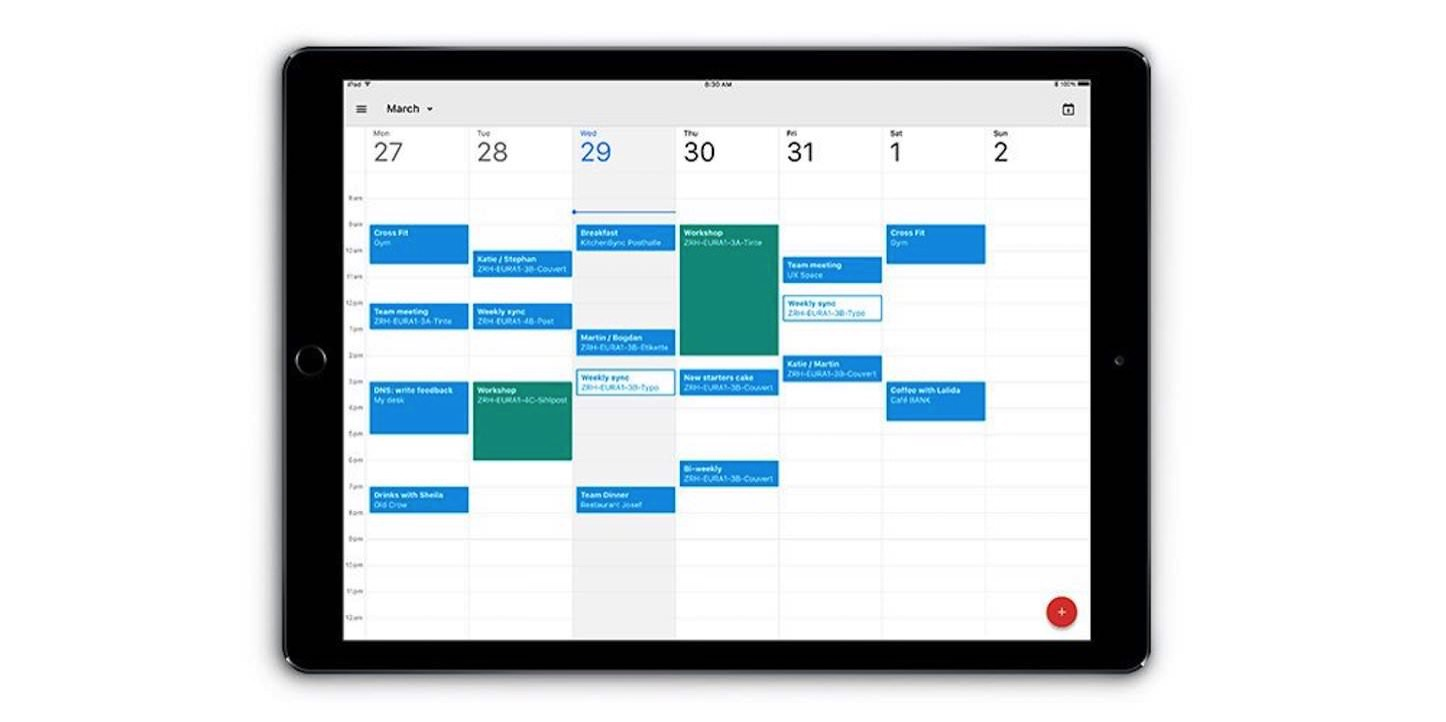Google calendar app for ipad