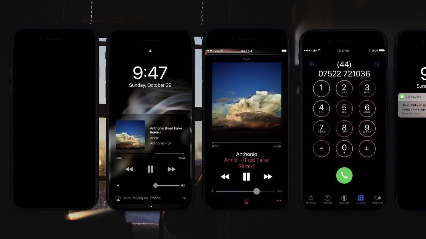 Iphone 8 dark theme concept 1