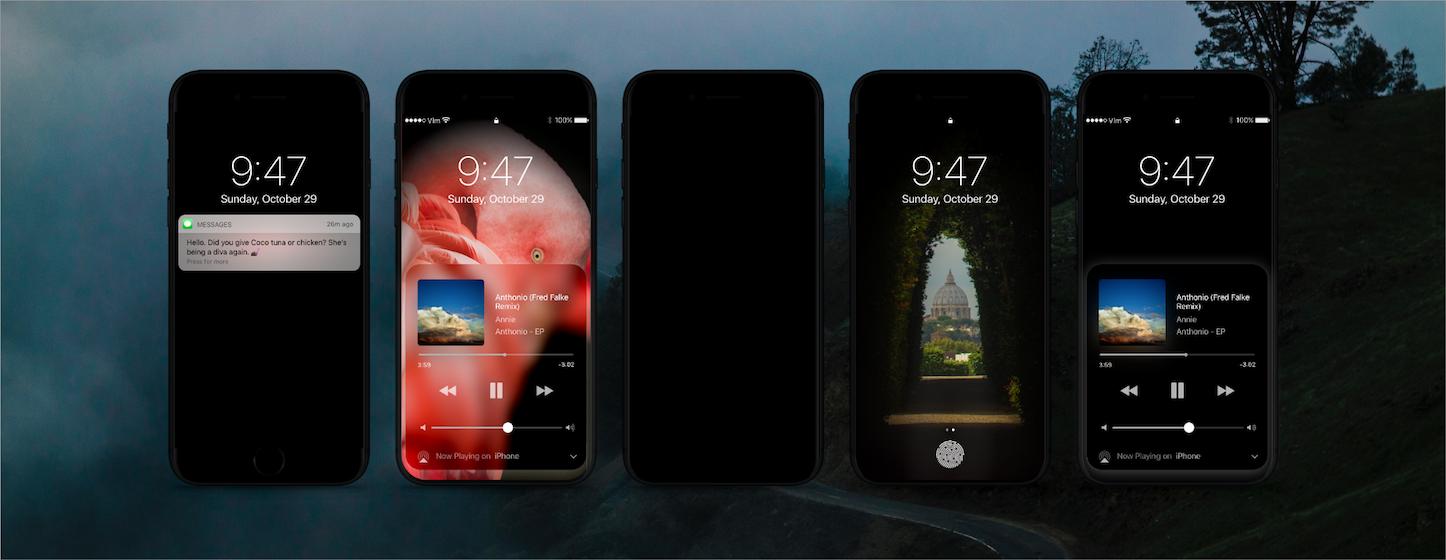 Iphone 8 dark theme concept 3