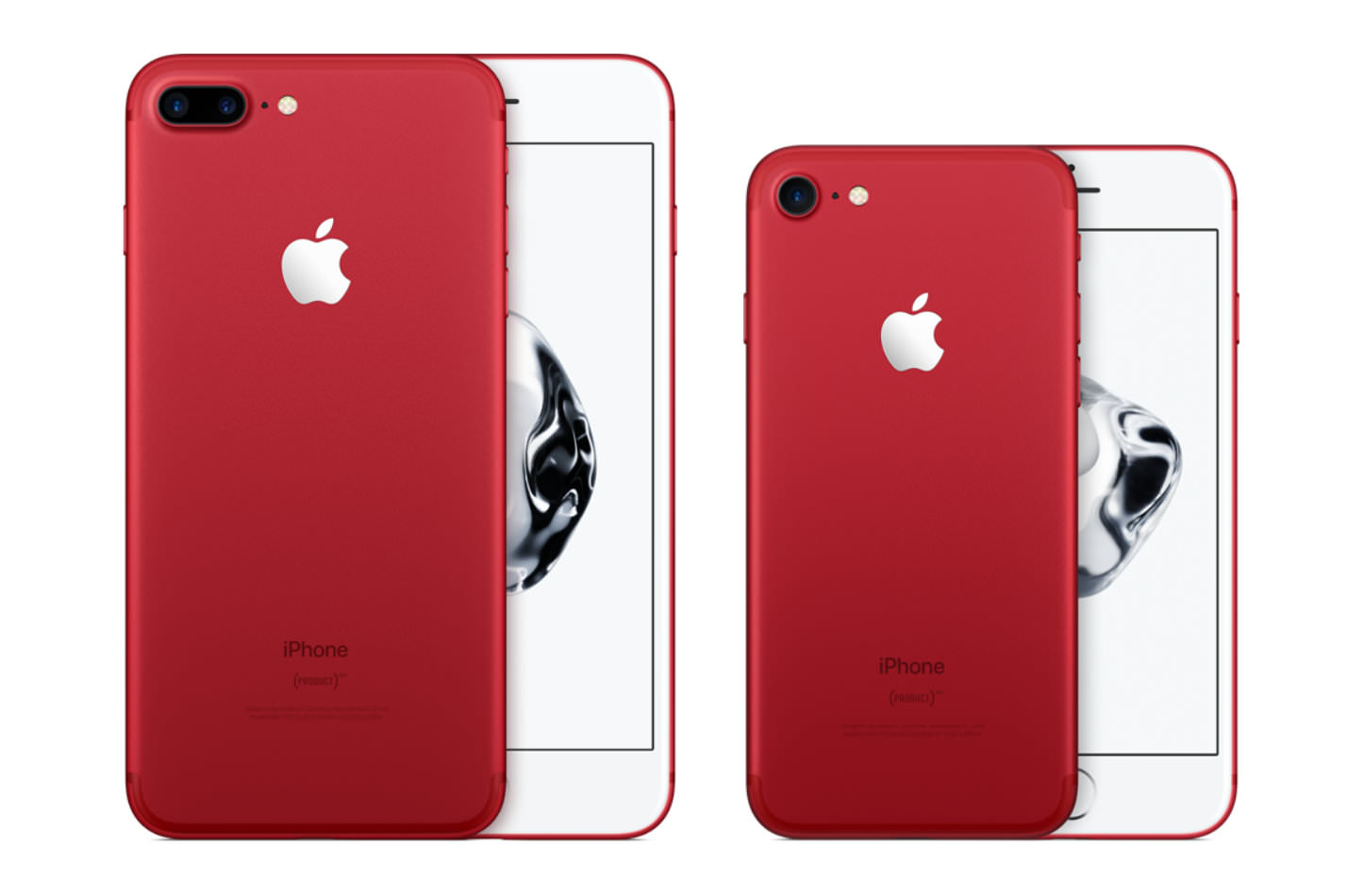 Iphone red model in proper colors