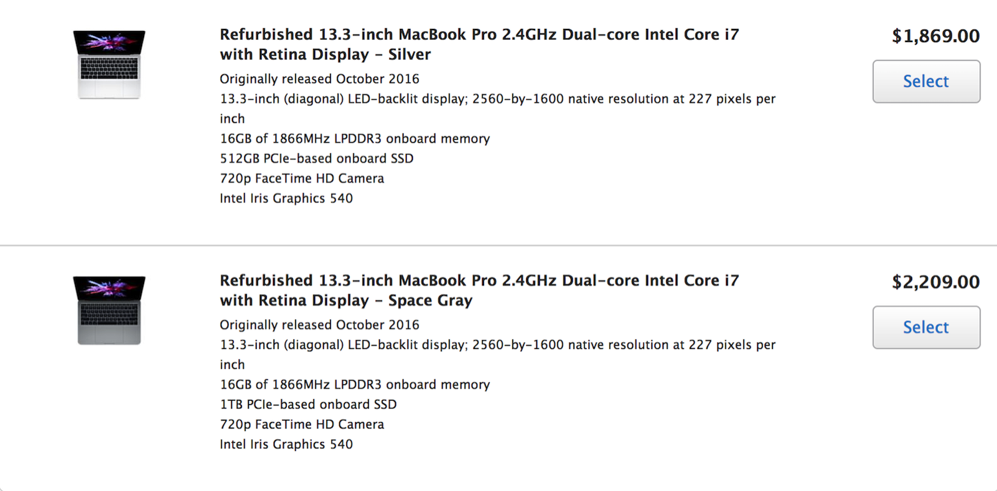 Refurbished macbookpro2016 2