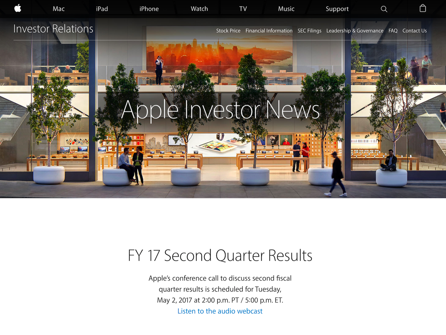 Apple Quarterly Results 20170502
