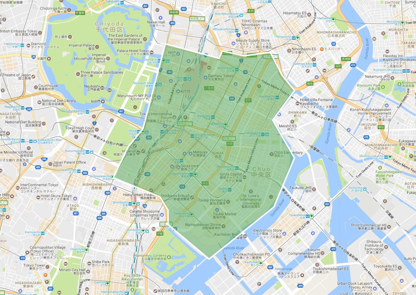 UberEATS meets Ginza Map