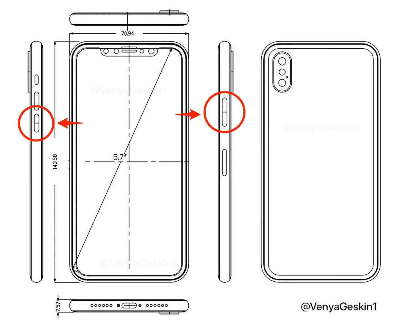 New Schematics for iPhone8
