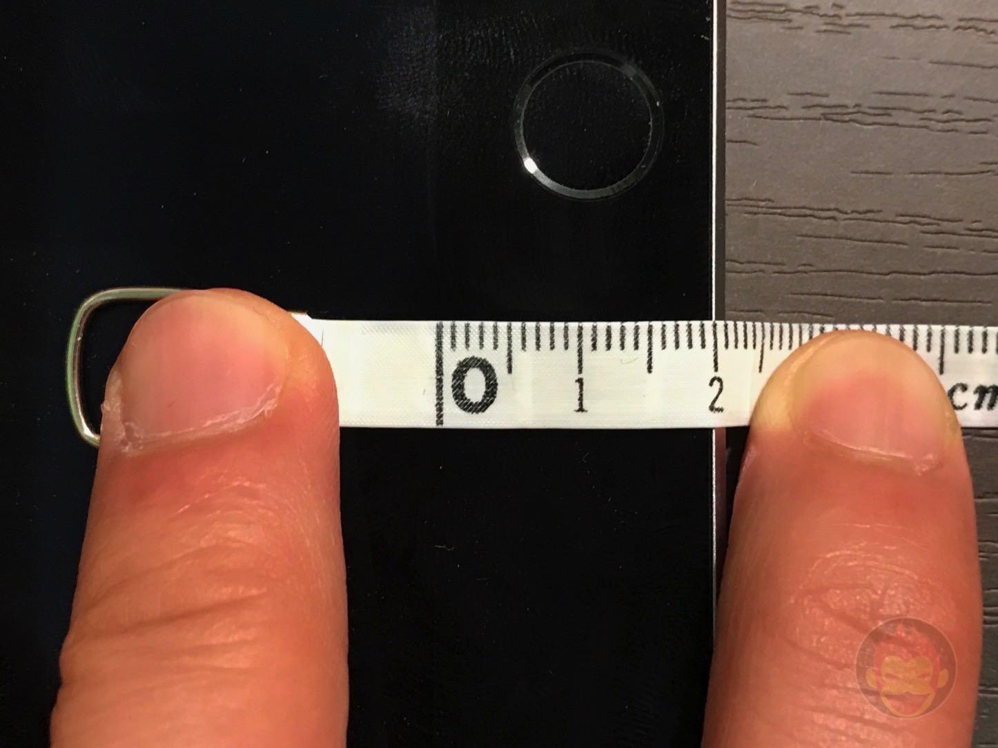 9.7インチ型iPad Proのベゼル