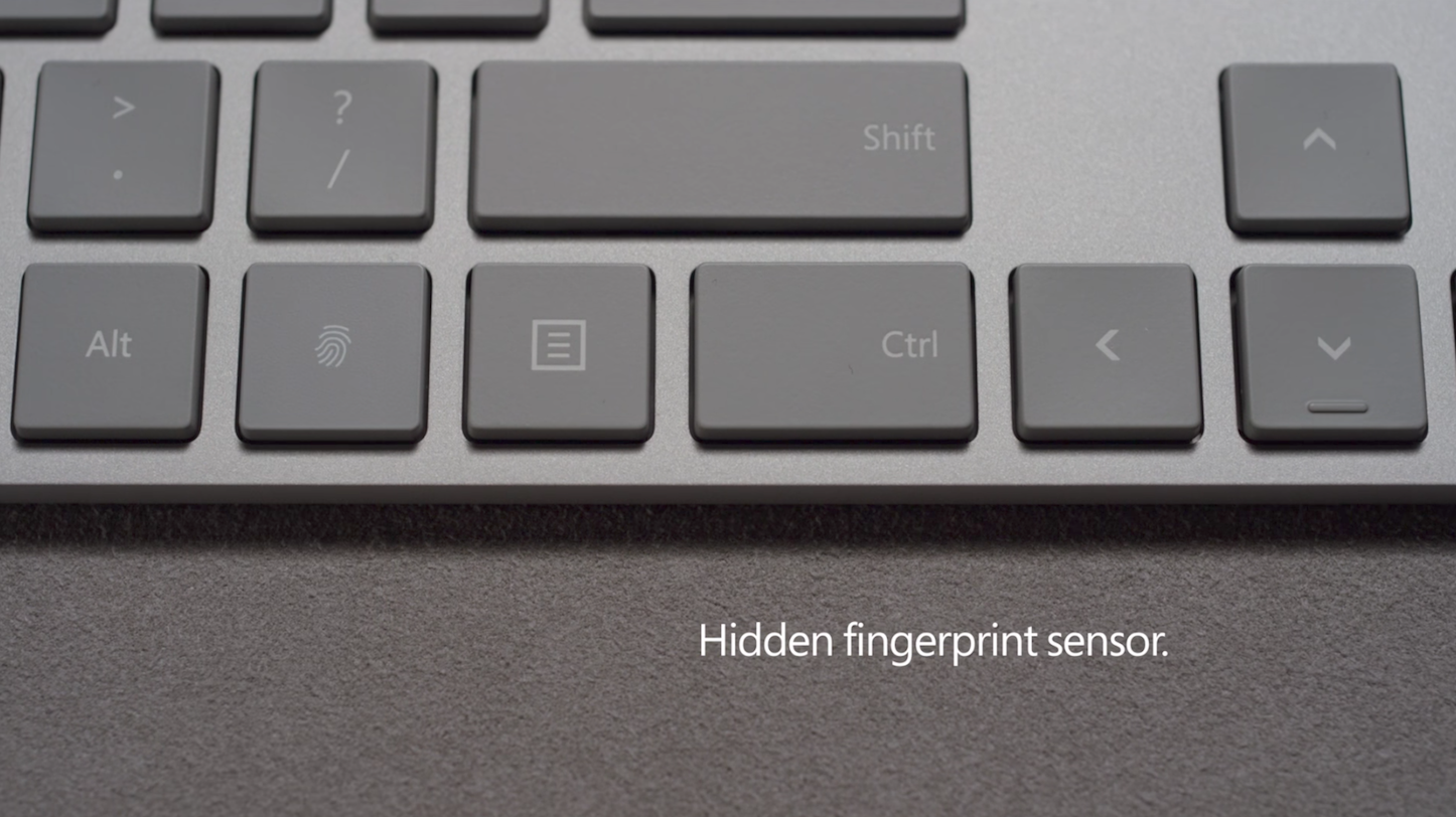 Hidden Fingerprint Sensor