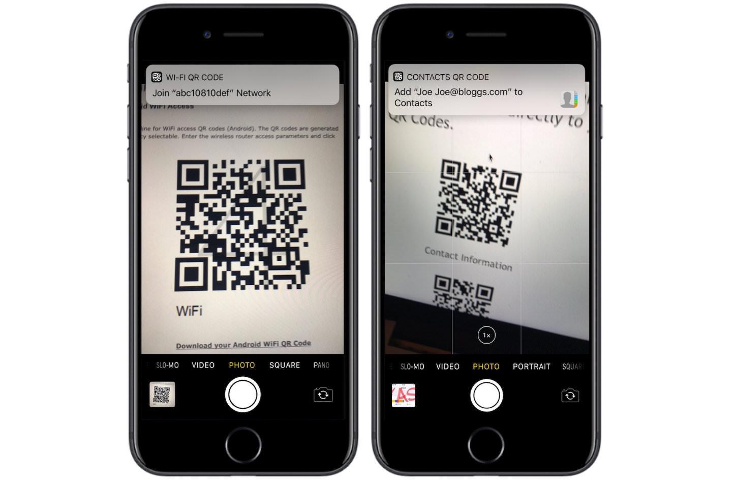 QR Code Reader in iOS11