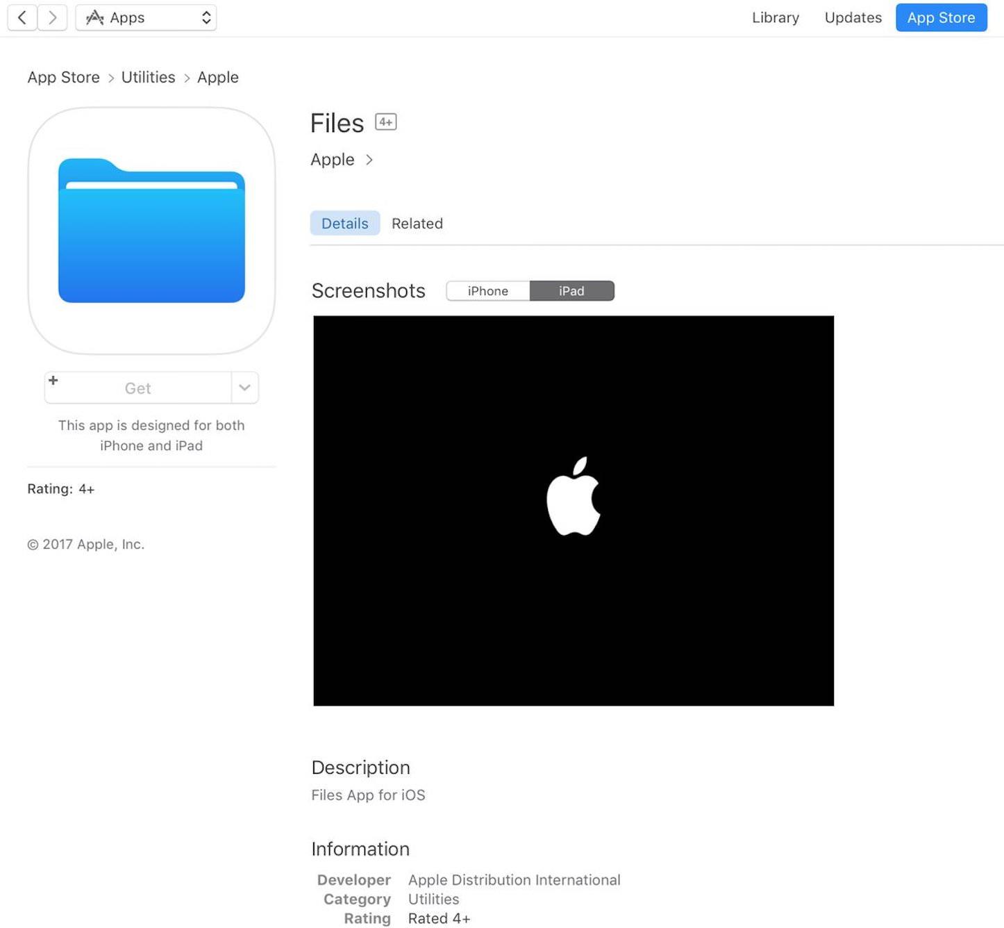 Files app ios11