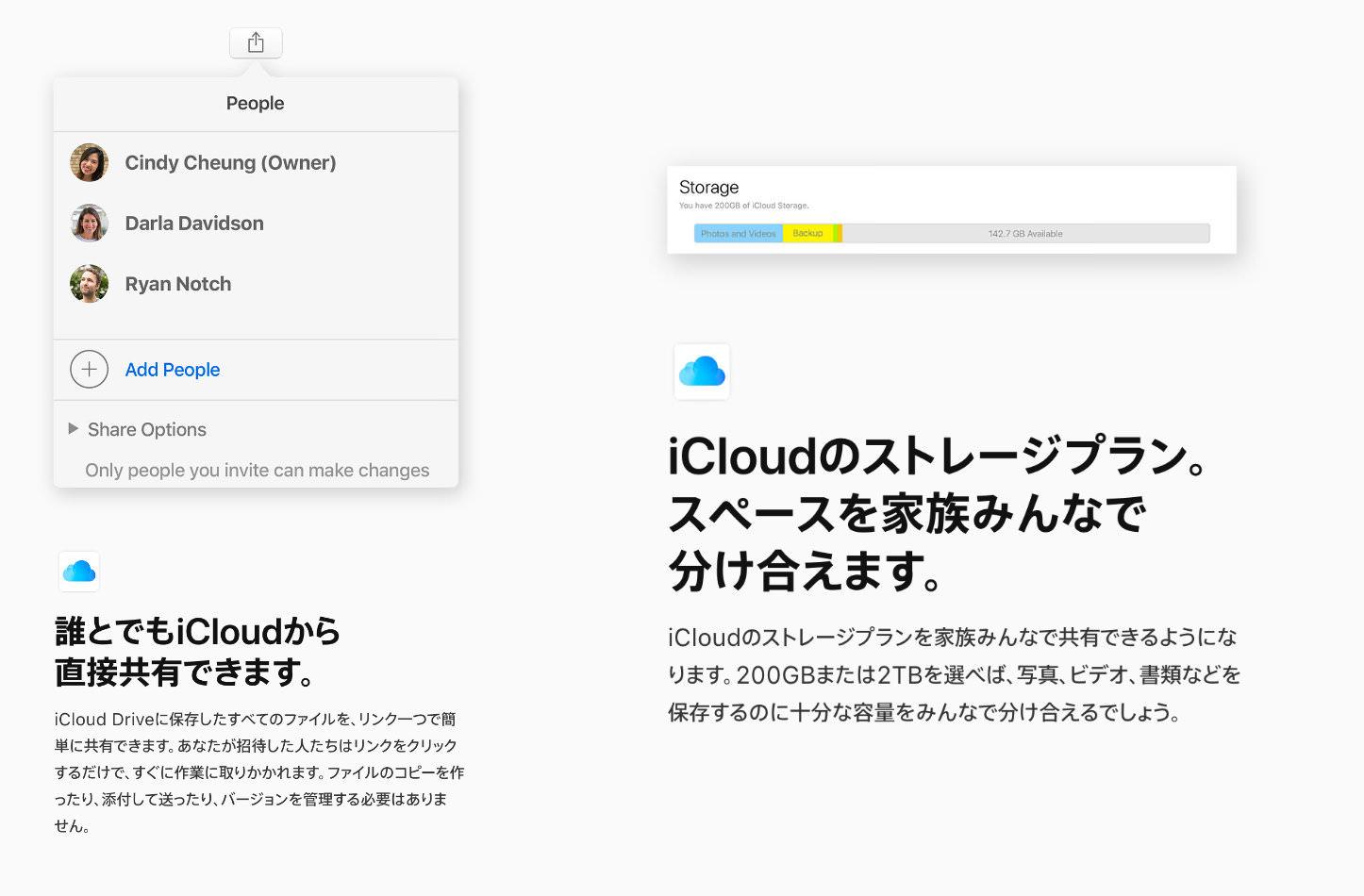ICloud Famliy Sharing and Sharing Files