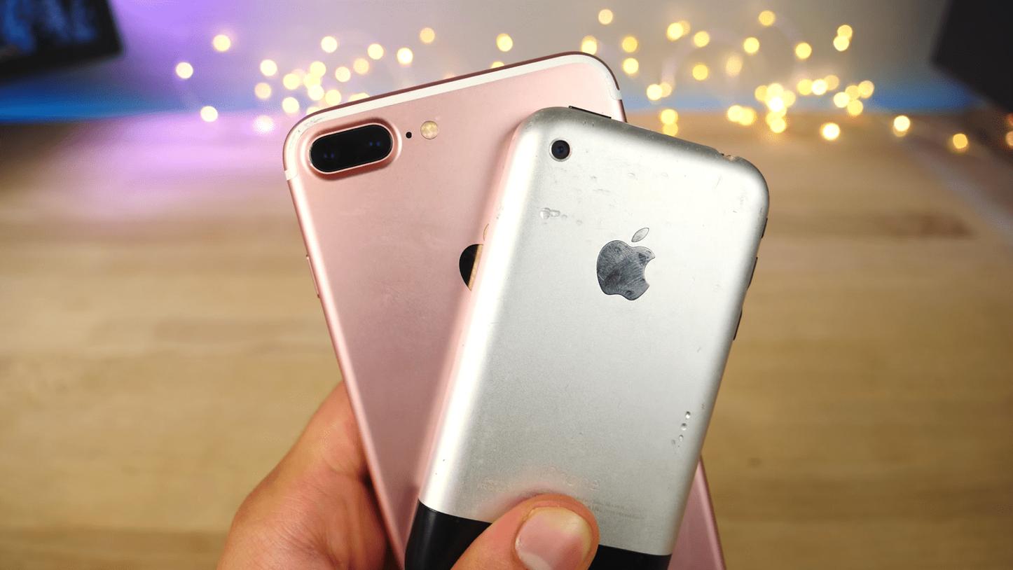 Iphone over the yeras