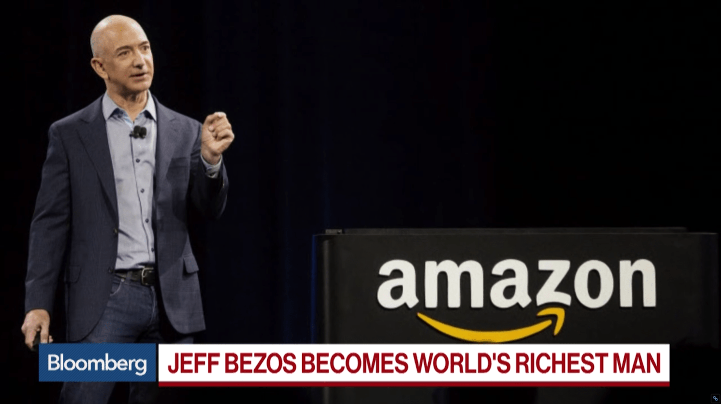 Jeff Bezos Becomes the Richest Man