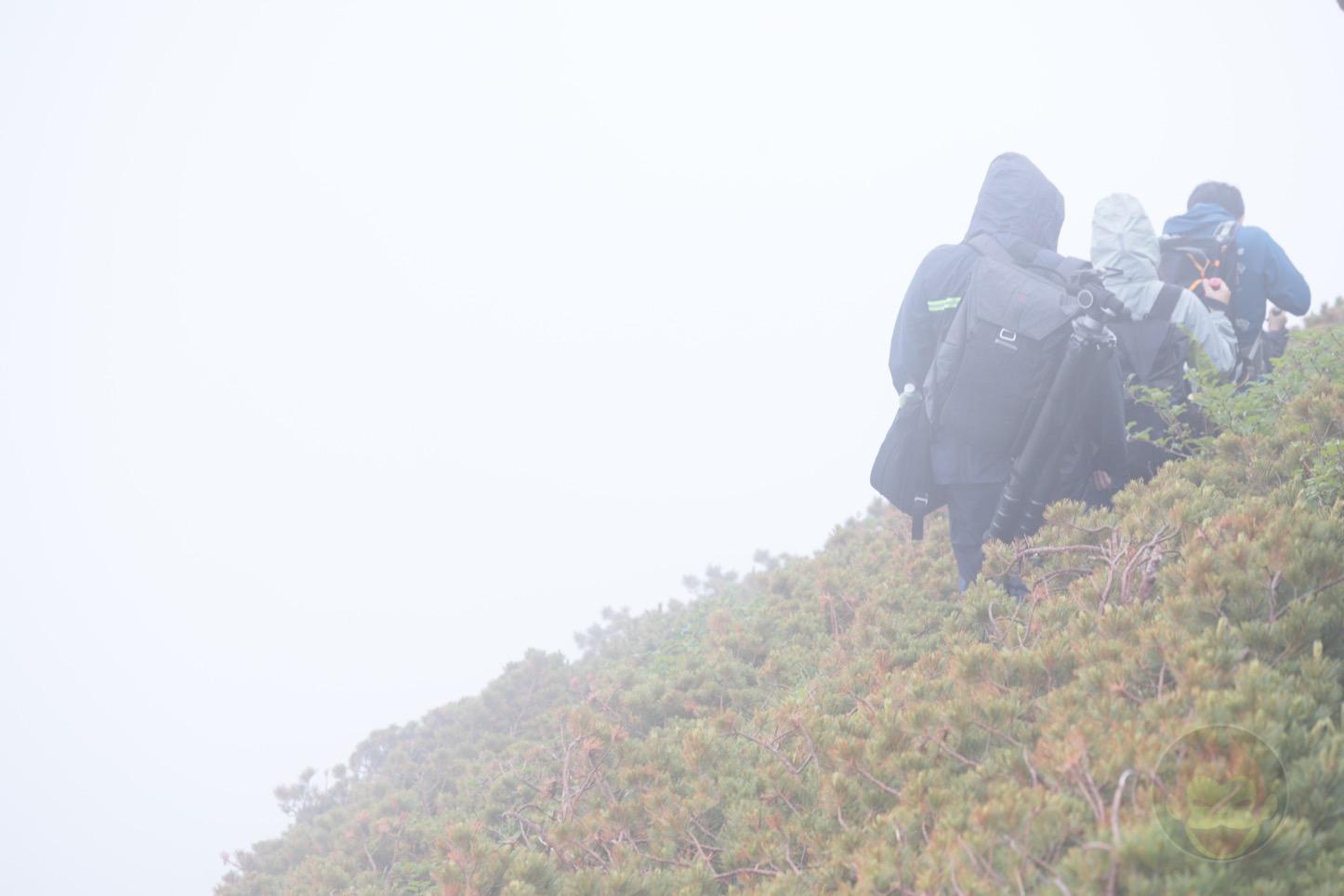 乗鞍新登山道整備2017:登山中