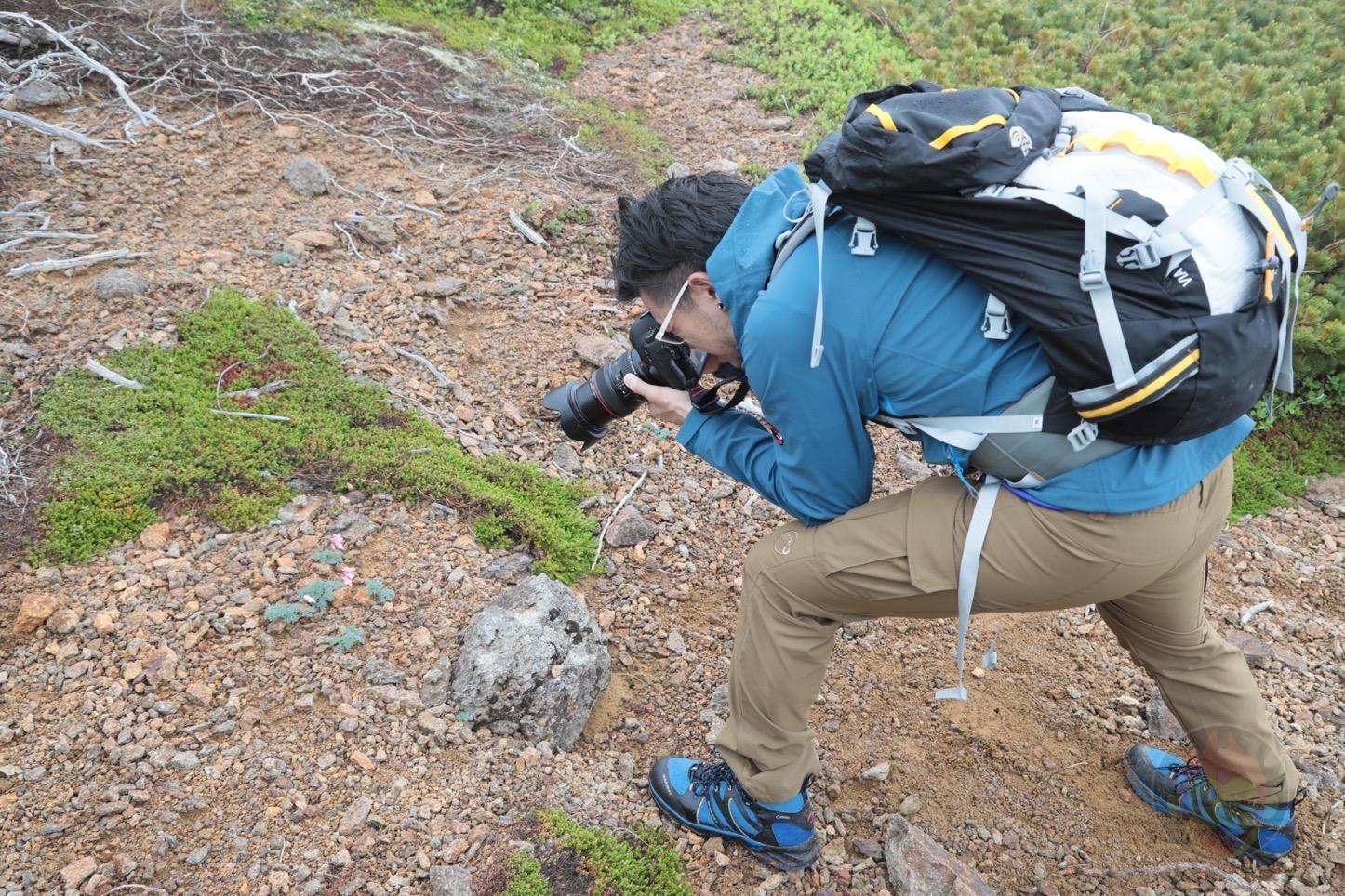 乗鞍新登山道整備2017:写真を撮る僕