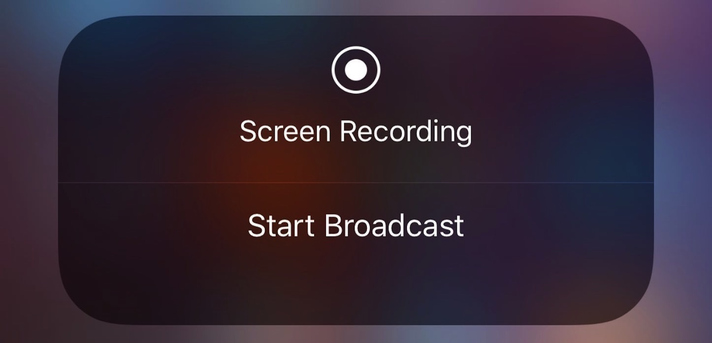Start Broadcast iOS 11 beta 3